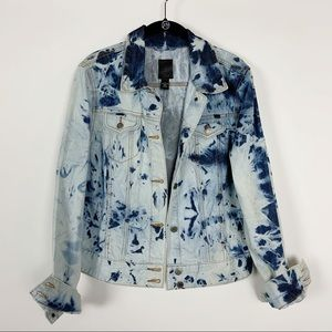 SOLD Lucky brand acid washed Denim jacket